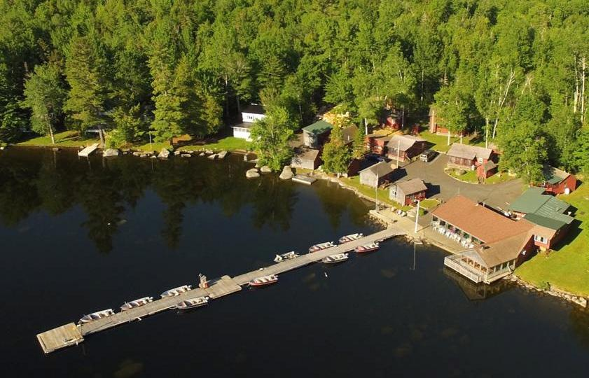 drone shot of Lodge